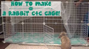 Make A Rabbit Hutch How To Build A Rabbit Cage Youtube