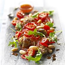 pizza express spicy italian sausage tomato and bean salad with