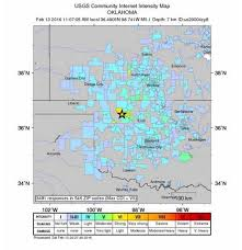 Kansas City Zip Code Map Oklahoma U0027s Third Largest Earthquake Ever Is Felt In Kansas City