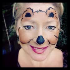 teddy bear face paint design halloween pinterest bear face