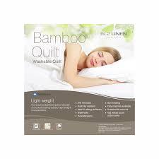 in 2 linen luxury bamboo rich queen bed quilt 400gsm in 2 linen