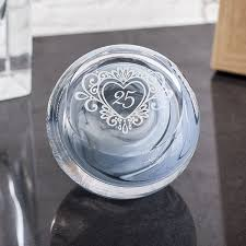 silver anniversary gifts silver anniversary celebration paperweight by caithness glass