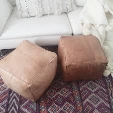 Etsy Ottoman Storage Fluffy Pouf Ottoman Leather By Viamelinda On Etsy M K