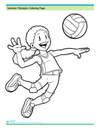 sports coloring pages schoolfamily