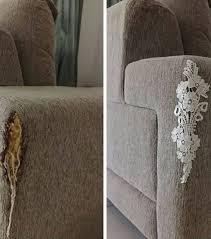 un canapé photo réparer un canapé déchiré