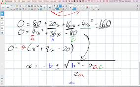 solving quadratic word problems with area grade 11 university
