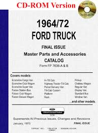 1964 1972 ford truck master parts and accessory catalog ford