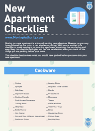 Things You Need For First Apartment New Apartment Checklist Ma