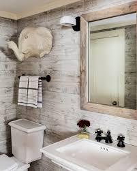wallpaper bathroom designs bathroom interior reclaimed wood panels effect faux wallpaper