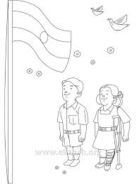 coloring pages of independence day of india india flag drawing at getdrawings com free for personal use india