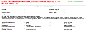 barber employment contracts