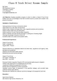 Job Resume Highlights by Job Description For Truck Driver For Resume Resume For Your Job
