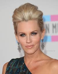 does jenny mccarthy have hair extensions with her bob jenny mccarthy fresh and modern updo with mega volume
