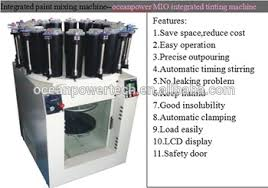 manual and automatic paint color dispensing mixing tinting making