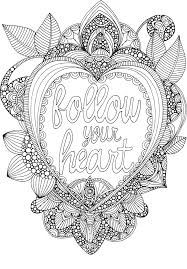 free coloring follow heart coloringpage courtesy