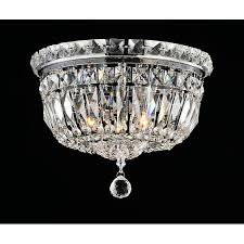 Crystal And Chrome Chandelier Elisa Chrome And Crystal Flushmount Chandelier