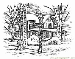 free printable coloring page house architecture houses 505078