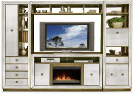 reflection 4 piece entertainment wall unit with contemporary
