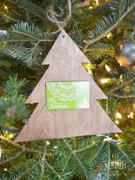home depot virtual party diy christmas tree gift card holder