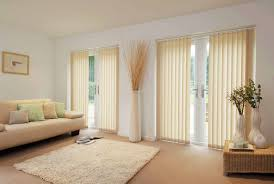 Decorative Patio Doors Blinds Interior Roller Vertical Blinds Combined White