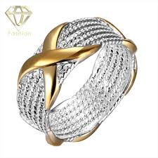 fashion golden rings images 2018 silver rings new design classic golden color x ring silver jpg