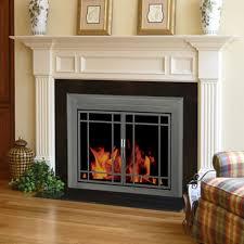 glass door fireplace fleshroxon decoration