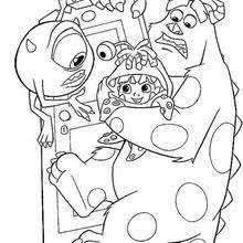 mike smart student monsters university coloring