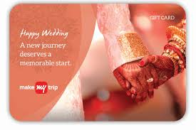 wedding gift card makemytrip rs 2000 wedding gift card at rs 1600 only makemytrip