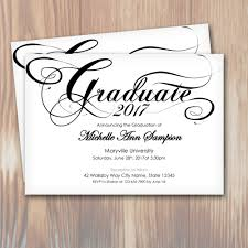 customizable script graduation party invitation template