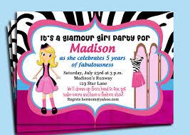 dress up make over fashion show invitation printable or