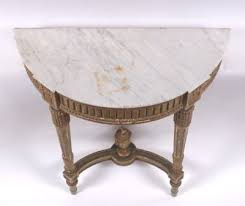 Demilune Console Table Louis Xvi French Wall Mounted Demilune Console Table Ca 18th