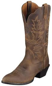 s boots cowboy s heritage r toe cowboy boots distressed brown