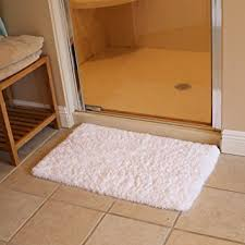 Bathroom Floor Rugs K Mat 20x32 Inch White Bath Mat Soft Shaggy Bathroom