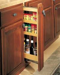 pull out spice rack built into custom wood hood open traditional
