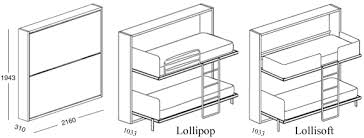 Lollipop Fold Away Wall Bunk Bed System With Or With Out Desk - Folding bunk beds