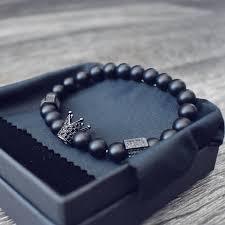 skull bracelet charm images Mcllroy hot black titanium steel skull bracelet men 8mm onyx jpg
