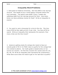 word problems with answers