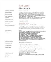 Resume Template Finance Financial Analyst Resumes Financial Advisor Resume Example A