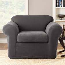 Sure Fit Reviews Slipcovers Sure Fit Stretch Metro Box Cushion Armchair Slipcover U0026 Reviews