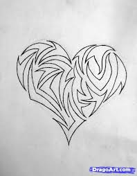 9 best images of cool pencil drawings of hearts love heart