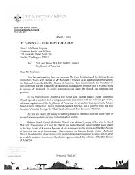 Letter To Client From Attorney by Boy Scouts Toss Out Church Over Scoutmaster Glaad