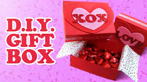 how to make a gift box valentine u0027s day mother u0027s day youtube