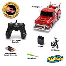 amazon com kidirace rc remote control fire engine truck