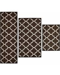 check out these bargains on madison lattice 3 piece rug set brown