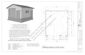 garages plans g447a 18 u0027 x 20 u0027 x 10 u0027 8 12 pitch free pdf garage plans blueprints
