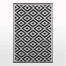 Black And White Outdoor Rug Pixel Outdoor Rug In Black White Geometric Patterned Picnic Mat