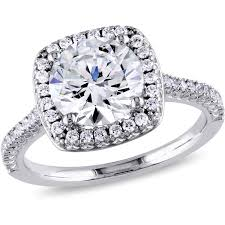 1 Carat Cushion Cut Engagement Ring 1 2 Carat T G W Australian Crystal And Cz Sterling Silver