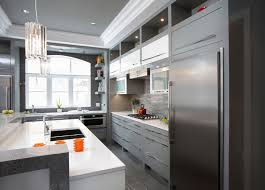 grey kitchen cabinets with white countertop 15 grey kitchens that prove this colour has staying power