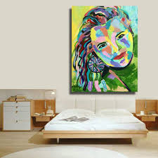 online get cheap industrial wall art aliexpress com alibaba group hdartisan home printed modern feathered woman figure oil painting canvas pringts wall art picture for bedroom