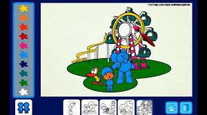 pocoyo 2014 hd pocoyo coloring game children play